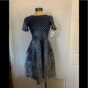 Lularoe Amelia Metallic Fit & Flare Dress size S